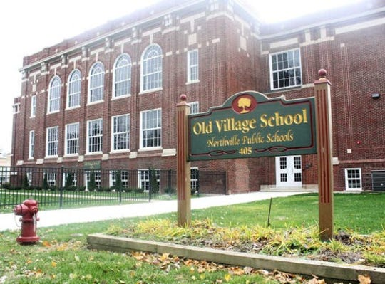 The Old Village School building in downtown Northville.
