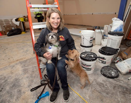 Jodi Gup is planning to open The Dog Stop in Gulf Breeze for dogs like Lollie and Whaley. The Dog Stop will be a 10,000-square-foot doggie boarding and day care facility and located in the old Treehouse Cinema location on Gulf Breeze Parkway.