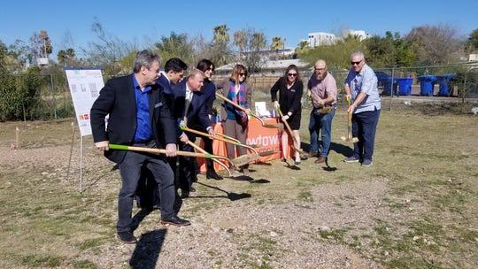 Newtown Community Development Corporation breaks ground on its Tempe Micro Estates project on Feb. 20, 2020.