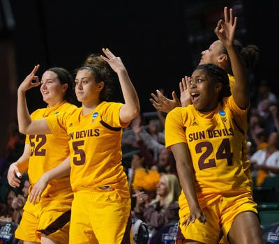 ASU women's basketball guard Jamie Loera (5) is redshirting this season due to injury but could be an important backcourt player in the next three seasons.