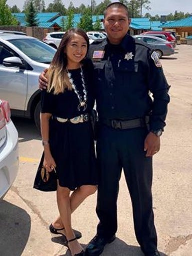 Kameilla Kellywood and her husband White Mountain Apache Police Officer David Kellywood