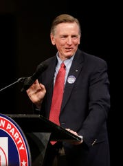 Rep. Paul Gosar speaks during an Arizona Republican Party Meeting at Church for the Nations in Phoenix, Ariz. on January 25, 2020.