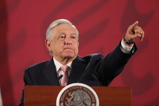 El presidente de México, Andrés Manuel López Obrador, participa este jueves durante una rueda de prensa matutina en el Palacio Nacional, de Ciudad de México (México).