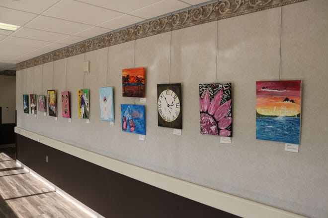 On Saturday, from 1 to 3 p.m., Magruder Hospital and the GPCAAC are hosting a reception open to the public during which visitors will have the chance to meet the artists and their families and purchase any of the available paintings.