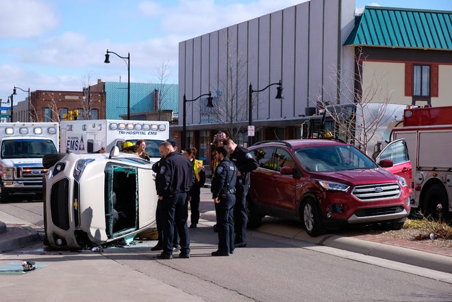 A traffic crash was reported in front of McMorran Place on McMorran Boulevard Thursday afternoon.