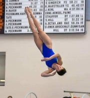 Northeastern's Abby O'Leary has won three consecutive York-Adams League diving championships.