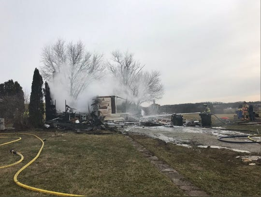 A Heidelberg Township house is a total loss after a fire Thursday morning.