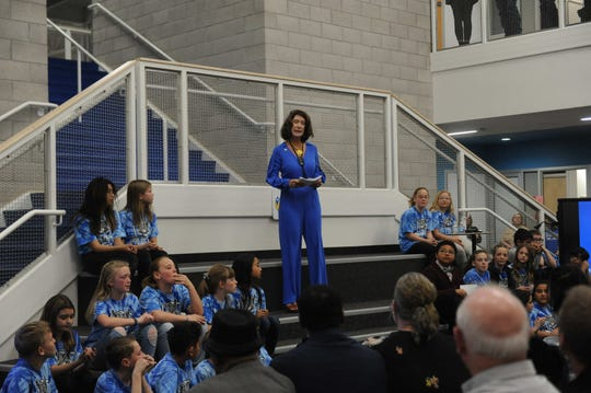 The State of Education address at the new Nick Poulakidas Elementary School in Reno on Feb. 19, 2020.