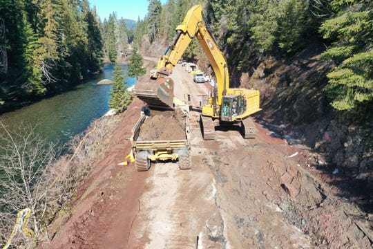 Crews have been cleaning contaminated soil and seeking to remove gas from the North Santiam River following a tanker crash last Sunday.