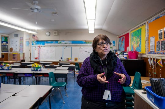 Maria Castellanoz talks about the different living conditions that some of her students live in. Castellanoz is a third grade teacher at Sherwood Elementary School in Salinas.