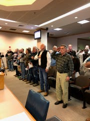 Caddo Parish citizens turn out to voice opposition to proposed gun legislation.