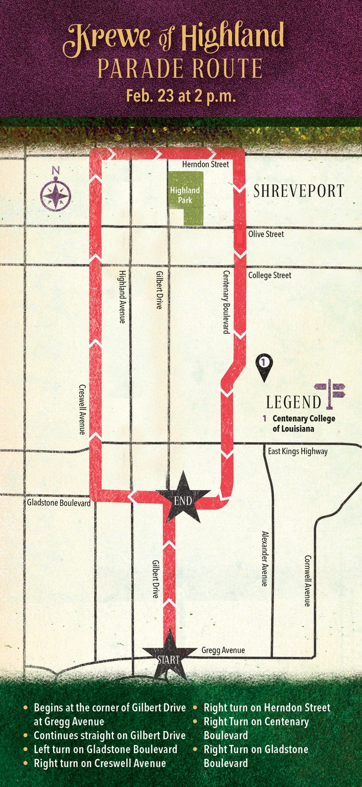 Krewe of Highland parade route.