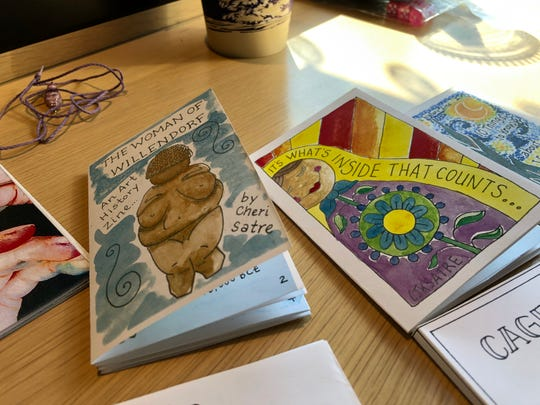 Cheri Satre's interest in art history has led her to make a handful of art history zines. She tends toward watercolor for her art.