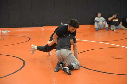 Senior Isaiah Green said he's looking forward to the individual wrestling section tournament Saturday at Willmar High School. Green is ranked No. 3 in the Class AAA 220-pound weight class.