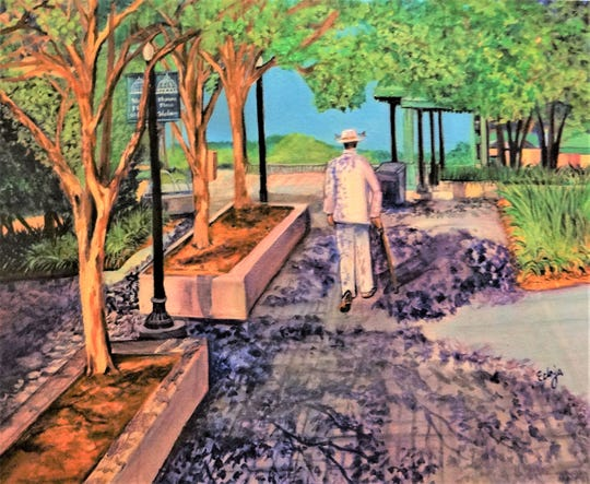 "Janice ""Ecinja"" McCaskill's ""Meandering Through the Plaza,"" is part of the Tallahassee Proud exhibition opening March 4."