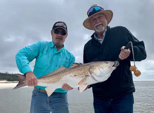 "Don Mullinax from St. Johns Florida caught this 40"" Red while Bay fishing out of Apalachicola with Capt. Ken Finch of Robinson Brothers Guide Service."