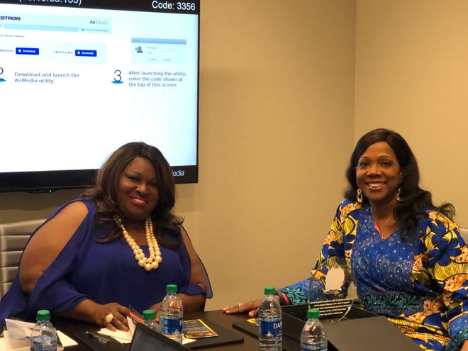 Dr. Marilyn Todman and Rosalind at Preach the World Worldwide Network TV