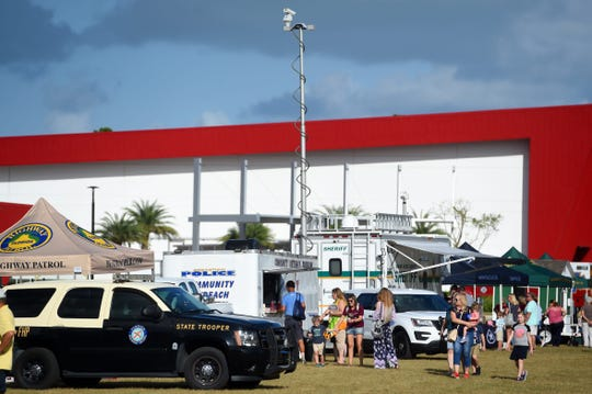Indian River County's Intergenerational Recreation Center on Oslo Road east of 20th Avenue in Vero Beach hosts many recreational and community events throughout the year. Pictured here is a National Night Out law enforcement community event in October 2019.