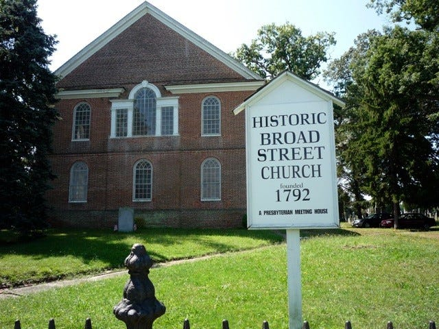 "The Historic Old Broad Street Presbyterian Church and Cemetery, which was built in the late 18th century, will be among the sites included in this year's ""A Race Through Time."""