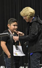More than 220 Tulare County students competed in the Tulare County Spelling Championship on Wednesday, Feb. 19. Conyer Elementary School fifth-grader Adeline Boling won the bee with the word kerplunk.