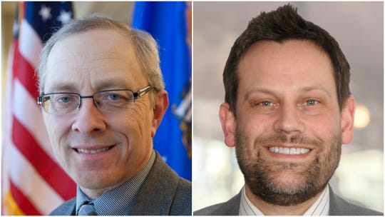 Candidates for Wausau's 3rd City Council district, incumbent David Nutting, left, and Tom Kilian.