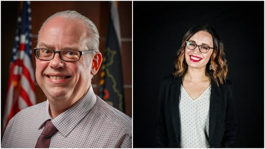 The candidates for Wausau's 2nd City Council district, incumbent Michael Martens, left and Tiffany Rodriguez-Lee.