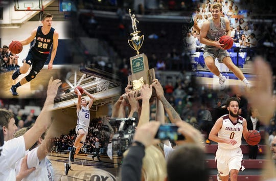 Four key players from John Glenn High School's 2016 state basketball title are nearing the end of their college careers. Today they remain in touch with one another and their former coach Greg Woodard.