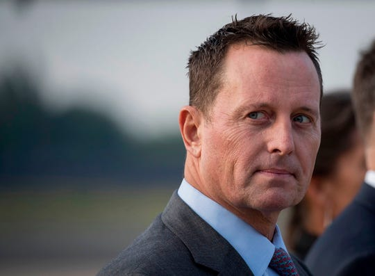 In this file photo taken on May 30, 2019, US ambassador to Germany Richard Grenell awaits the arrival of US Secretary of State Mike Pompeo at Tegel airport in Berlin. Grenell, an Evangel University alum, has been named acting director of national intelligence by President Trump.