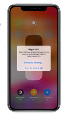 """Along with a """"Dark Mode,"""" Apple offers a Night Shift option to make reading on your iPhone iPad at night more comfortable and potentially less impactful on a good night's sleep."""