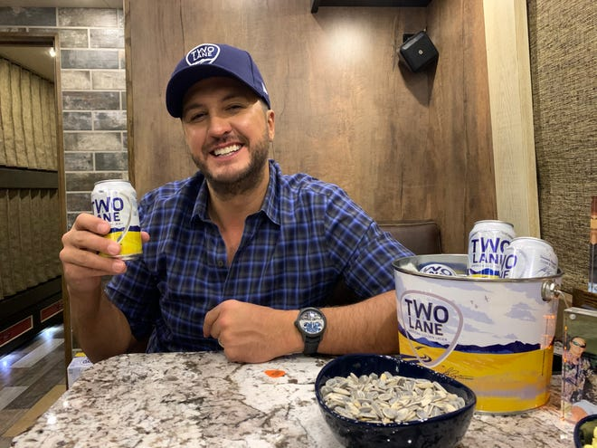 'Beer means putting yourself in a mental space where you can chill out,' says singer Luke Bryan, who launches his Two Lane American Golden Lager in March.