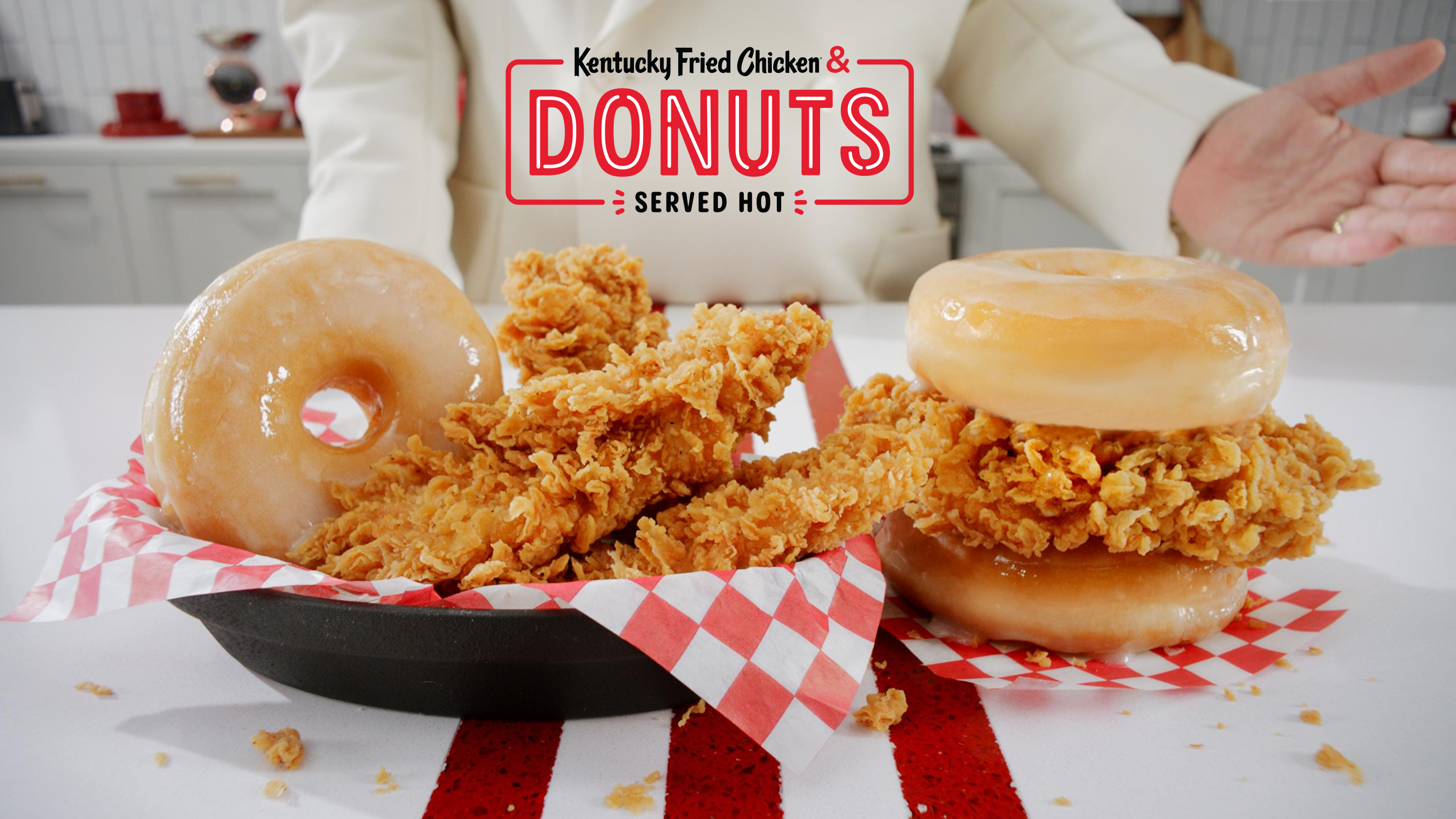 KFC Donut sandwich with fried chicken and glazed doughnuts now available nationwide