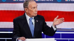 Mike Bloomberg at Democratic debate in Las Vegas on Feb. 19, 2020.