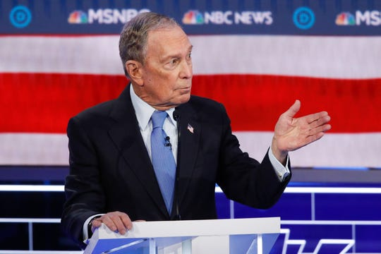 Mike Bloomberg at the Democratic debate in Las Vegas on Feb. 19, 2020.