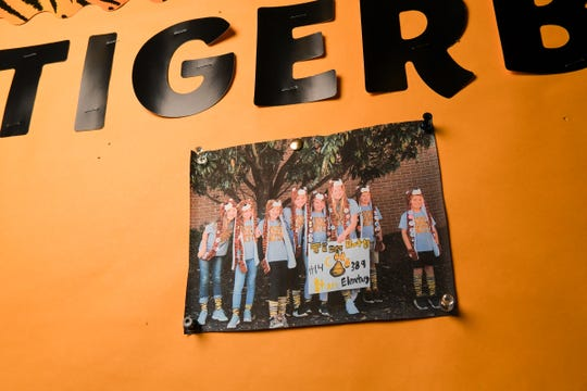 A photo of the Starr Elementary School Tigerbots team on the bulletin board during practice for the team. They are one of five in the U.S. and only team in South Carolina competing in the Asia Pacific Open Invitational Robotics Competition in Australia, after winning their regional.