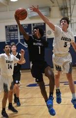 Middletown South vs Mater Dei Prep. Basketball Mater Dei Prep # 1 Tahaj Parland