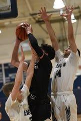 Middletown South vs Mater Dei Prep. Basketball Mater Dei Prep # 11 Andreas Von Fricke