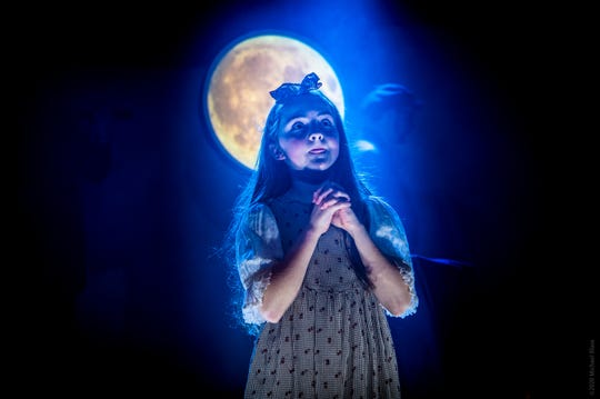 """Aisling Fiona Fagan, 10, of Red Bank is playing the title role in """"The Little Match Girl"""" off-Broadway."""
