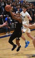 Middletown South vs Mater Dei Prep Basketball. Mater Dei Prep # 2 Kyree Drake