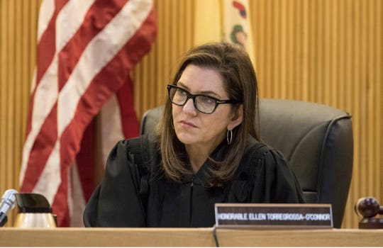 Jose Carrero pleads guilty in Monmouth County Superior Court regarding the murders of Ana Mejia and Nicholas W. Connors. These crimes took place in 1994 in the city of  Long Branch. Judge Ellen Torregrossa-O'Connor listens to the plea.Freehold, NJFriday, February 21, 2020