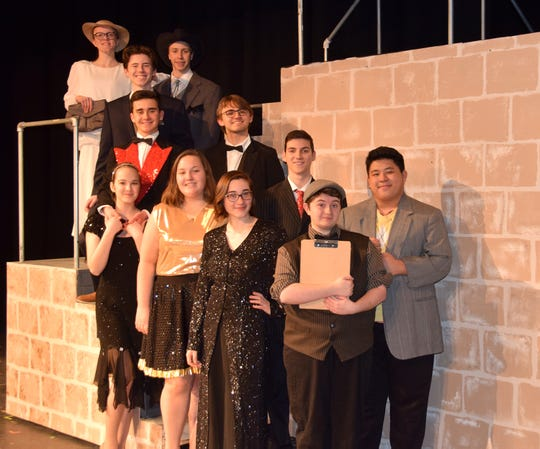 The Cast of Vestal High School's 2020 production of '42nd Street.'