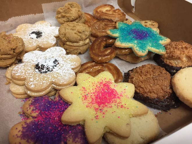 Assorted cookies from Mirabelles Bakery in South Burlington.
