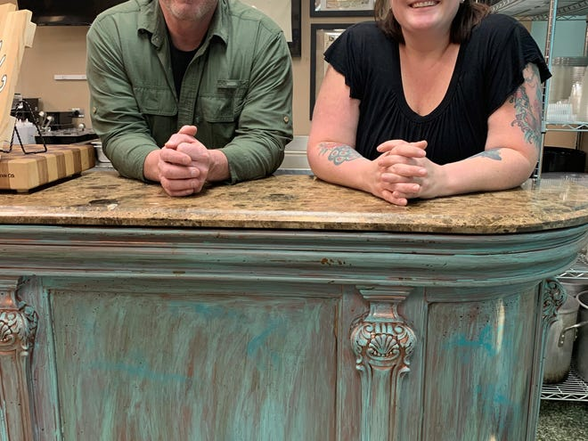 Mark Rooks and Ridgway Grace are ready to welcome customers to their new gluten-free business, Bleu Bear Market.