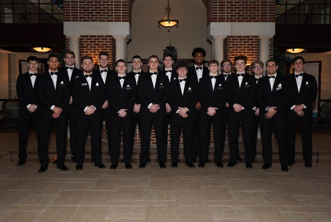 These young men were the nominees who attended the That's My Boy Award banquet, Feb. 20, at the Manor House, Mason.