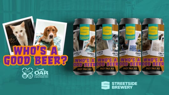 "Streetside Brewery in Columbia Tusculum is releasing ""Who's A Good Beer, a hazy pale ale, on Saturday, April 11th."