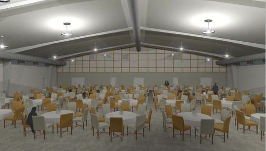 The ZooPlex will seat 385 people for weddings and banquets.