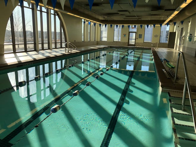 For now, the waters are calm before members of the Legacy Fitness of Ankeny start logging in the laps at the new fitness facility opening in April in The District.