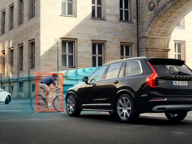 Volvo's City Safety system includes bicycle detection.