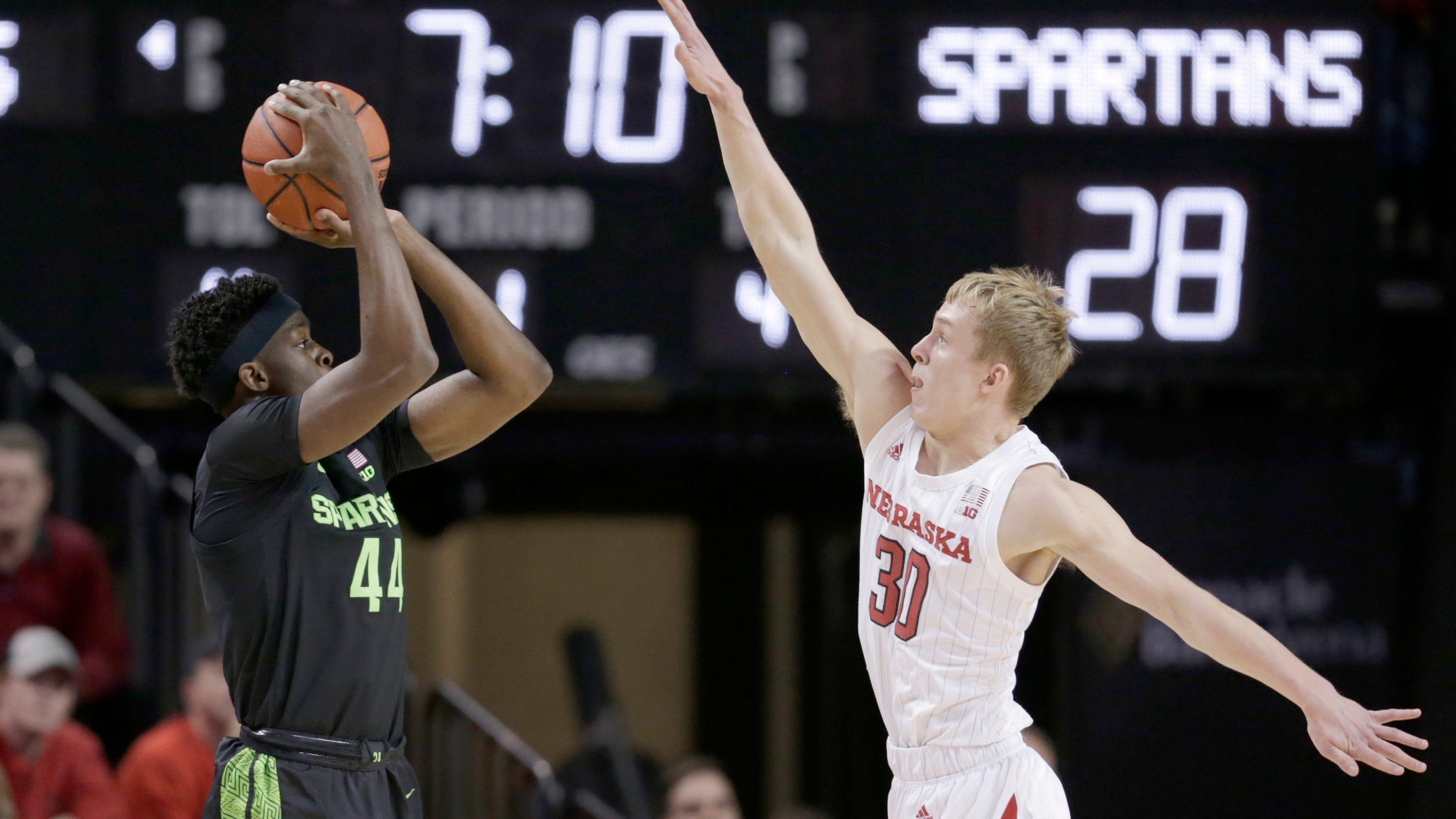 Michigan State basketball's balanced attack buries Nebraska, 86-65