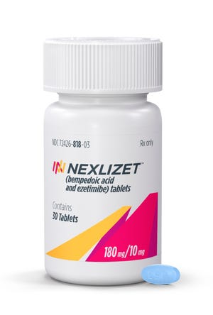 This undated photo provided by Esperion Inc. shows the cholesterol-lowering drug Nexletol made by Esperion Therapeutics Inc.