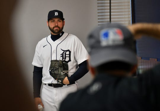 Tigers pitcher Michael Fulmer poses for MLB photographer Tony Firriolo.